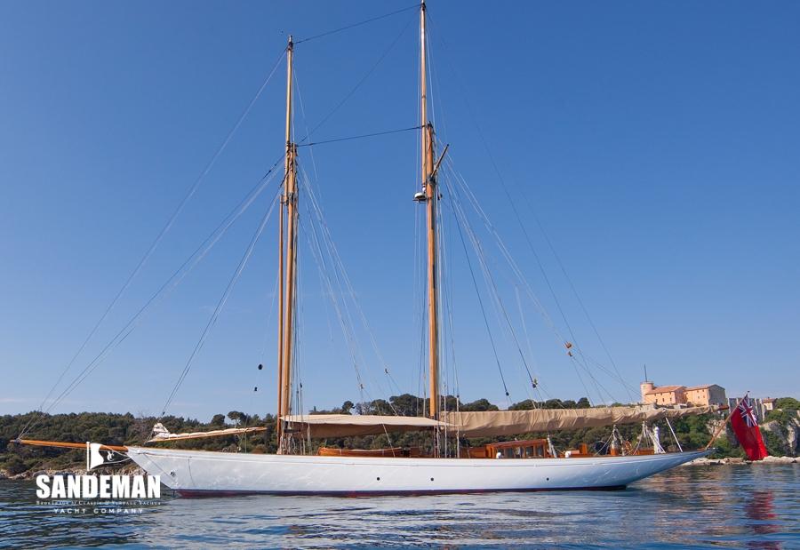 William Fife III Gaff Rigged 108 ft Topsail Schooner 1931