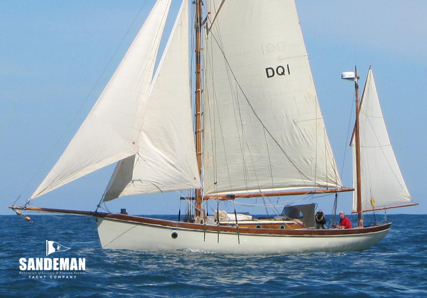 Ed Burnett 38 ft Gaff Yawl 2000 - Sandeman Yacht Company